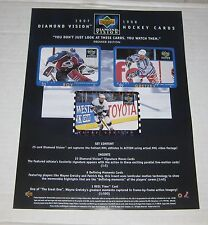 UPPER DECK 1997-98 DIAMOND VISION HOCKEY Cards Advertisement Promo Flyer