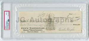 Orville Wright Historic Aviator Autographed Check 1929 PSA/DNA Slabbed Mint 9