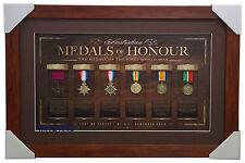 Australian Medals of Honour - Replica Medals of the First World War Framed ANZAC