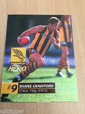 2002 Official AFL Herald Sun Sticker Series Hawthorn SHANE CRAWFORD
