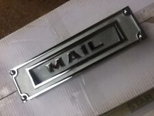 Chrome Plated Heavy Brass Salsbury Mail Slot Door Mount Mailbox with Screws Nos