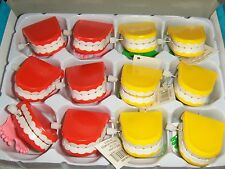 12 Toy 2 inch Wind Up Chattering Teeth Office Birthday Party Novelty Favors