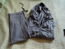 NY & Co. ~ Size S~ Taupe~ Track suit~ Boot cut~ Hood~ Zips!