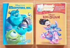 DISNEY MONSTERS INC / LILO & STITCH READ-ALONG AUDIOBOOK ENHANCED CD & CASSETTE