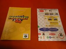 Mario Kart 64 Nintendo 64 N64 Instruction Manual Booklet & Operation Card ONLY C