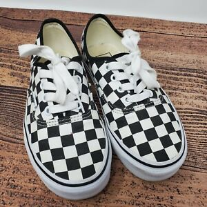 Vans Sneakers Shoes Womens 5.5 Men 4 Black White Checkerboard Checkered Lace Up