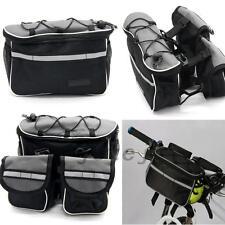 Schwarz Fahrrad Tasche Fahrradtasche Hüfttasche Rucksack Outdoor Gepäckträger