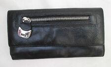 AUTHENTIQUE portefeuille - porte-monnaie ROOTS   cuir  TBEG vintage /