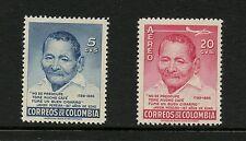 Colombia 1956  #669, C288  Javier Pereira -   supercentenarian -  2v.  MNH  J315
