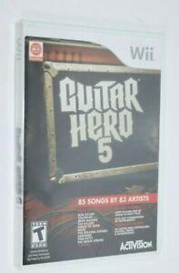 NINTENDO WII ** Guitar Hero 5 ** BRAND NEW FACTORY SEALED SHIPS SAME DAY