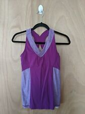 C9 by Champion Womens Size Small Purple V-Neck Built in Bra Athletic Tank Top