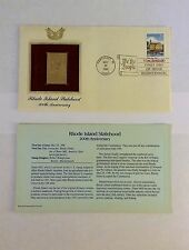 200th Anniversary Rhode Island Statehood Gold Stamp with Certificate