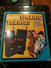 Vintage Toy, Solid State, 4 Transistor, 2 Way Radio Walkie Talkies - Model IW401