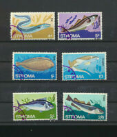 Stroma FISH Set of 6 Topical Large size Stamps Sole eel Hake Dogfish Haddock