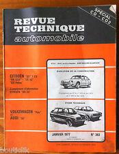 RTA de 01/1977; Volkswagen Polo et Audi 50/ DS 23/ GS/ GS 1220 GS X 2 GS Pallas