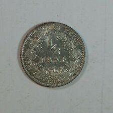 1/2 MARK 1906 G - Genuine Germany KM#17 Empire Silver coin