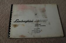 Lamborghini 400 / GT Spare Parts Catalog 1966 - 1968 Italian Version Rare Find