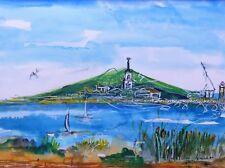 Peinture, tableau,paysage, mer, méditerranée, Sète,église saint louis