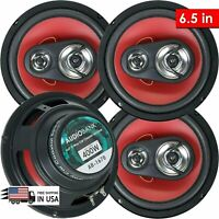 "4x Audiobank 6.5""  3-Way  Car Audio Stereo Coaxial Speakers - AB1670 800 watt x4"