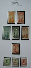 W541.21 Denmark 9 Mh 1934-1953 Bob Issue Stamps