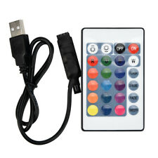 RGB USB LED Streifen IR RF Fernbedienung 24 Schlüssel 3528 5050 Lampe DC 12V DE