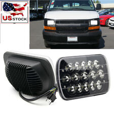 DOT Black 7x6 5x7'' LED Hi/Lo Headlight Sealed Beam Fit for Chevy Express Cargo