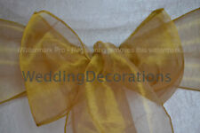 CHAIR COVER SASHES BOWS ORGANZA NEW UK FOR WEDDINGS, BEST VALUE!
