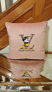 Gorgeous Baby Pink Velvet Mickey Mouse Disney Cushion covers+Cushion Pad 20x20""
