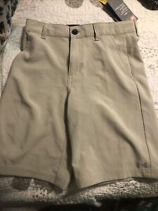 Boys Under Armour Khaki Shorts Size 12 NWT