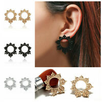 Women Hollow Geometric Flower Drop Dangle Stud Earrings Fashion Jewelry Gift
