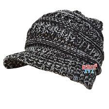 Unisex Winter Visor Beanie Knit Hat Cap Crochet Men Women Ski Warm NEW