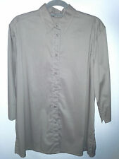 SARA Size 16 SLATE Button Collar Shirt 3/4 Sleeve With Turn Back NWOT RRP $69