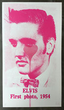 Pure Evil - Elvis Presley First Photo (Pink) - Street Art - Signed Screen Print