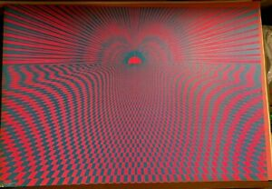 PSYCHEDELIC SUNSET VINTAGE 1971 BLACKLIGHT POSTER By SUNSET MARKETING -NICE!
