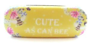 Cute As Can Be Yellow Floral Bee Hard Glasses Case