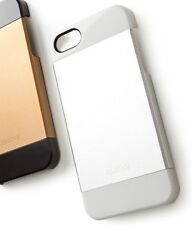 Shiny Aluminum & Plastic case for iPhone 5 & 5S, Silver, NIB! Quirky