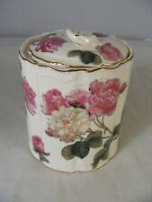 Romantic Rose Lidded Jar with Gold Trim by Burton