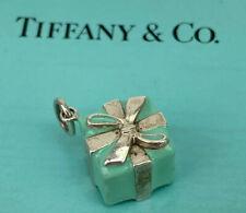 $275 Tiffany & Co. Sterling Silver 925 Blue Enamel Gift Box Charm