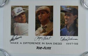 Payne Stewart Lee Trevino Chris Johnson JSA Autograph Signed Golf Poster