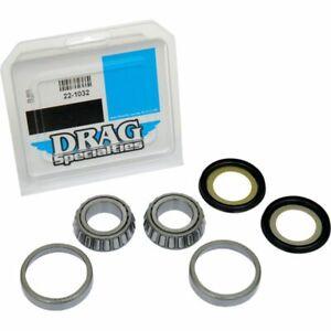 Drag Specialties Neck Steering Stem Post Bearing & Race Kit for Harley