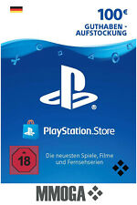 100€ PSN Card PlayStation Network Guthaben Code - 100 EURO PS4 PS3 PS Vita - DE