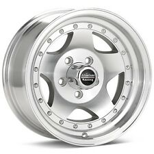"4 15 inch AR23 15x8 Machined Rims Wheels Early 5 Lug GM 5x5.0 5x127 3.75"" BS"