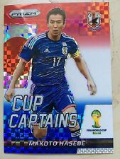 2014 Panini Prizm World Cup MAKOTO HASEBE Japan Captains Blue Red Plaid #21