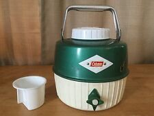 Vintage Coleman Diamond Logo Camping Picnic Water Jug Cup Thermos Cooler