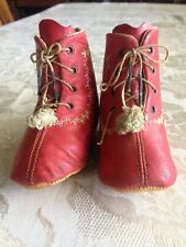 Antique Victorian / Edwardian Baby Shoes
