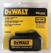 NEW  DeWalt 20V Max Lithium-Ion Battery DCB200 3.0Ah