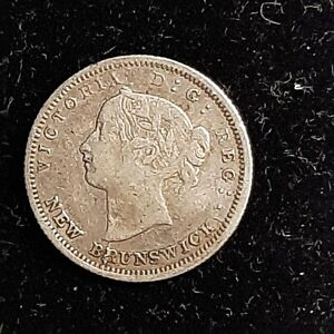 1864 New Brunswick Five Cent (5c) Coin