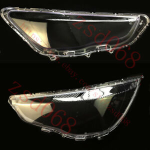 2x Right+Left Headlight Transparent Cover For MITSUBISHI OUTLANDER Sport 2013-15