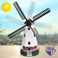 Solar Powered Windmill Light Led Night Lighthouse Garden Yard Decor Xmas Gift