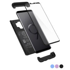 Galaxy S9 / S9 Plus | Spigen® [Thin Fit 360] Hybrid Cover + Tempered Glass Case